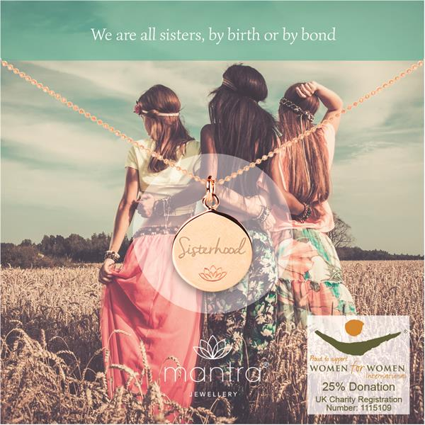 Sisterhood Charity Necklace for Women for Women International