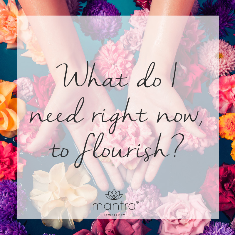 What do I need right now, to flourish
