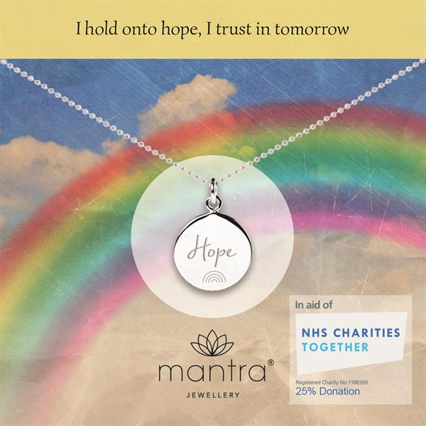 Hope Rainbow NHS Charities Together Necklace - Mantra