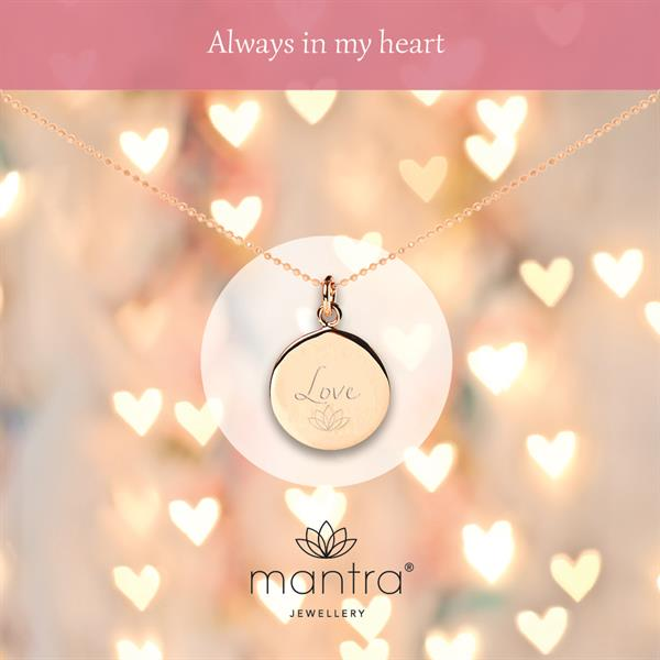Love Disc Necklace - Mantra