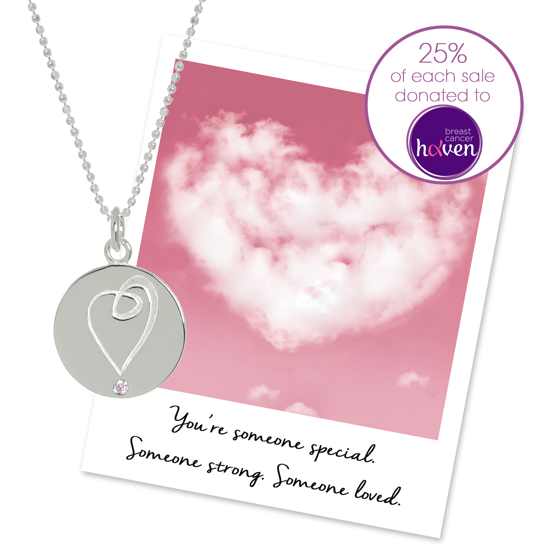 Breast Cancer Haven Charity Necklace - Mantra jewellery