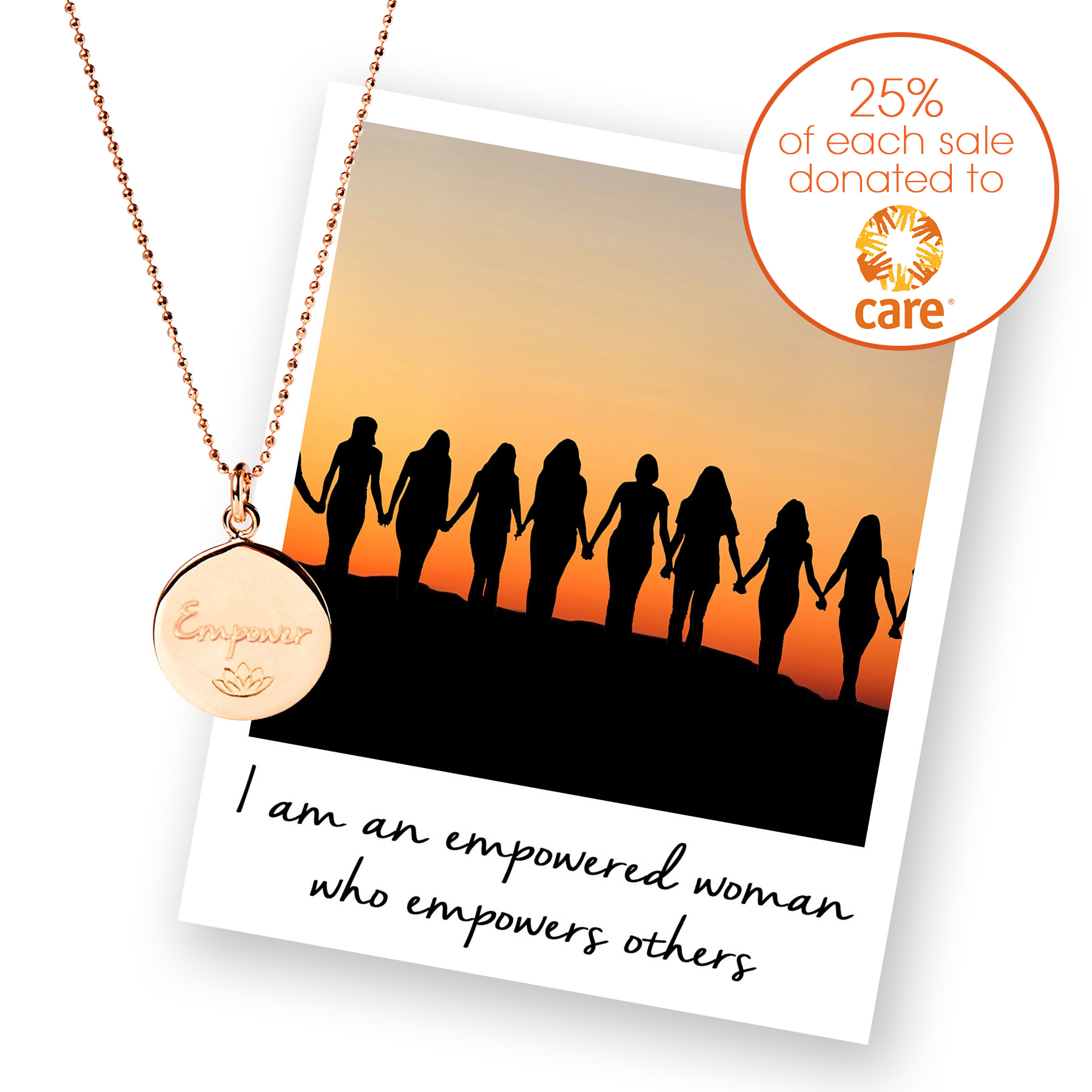 Care International UK Charity Necklace - Mantra Jewellery