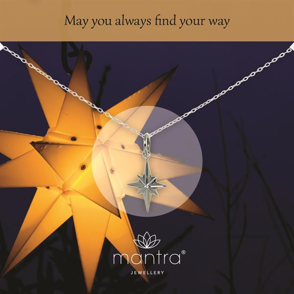 mantra jewellery north star necklace