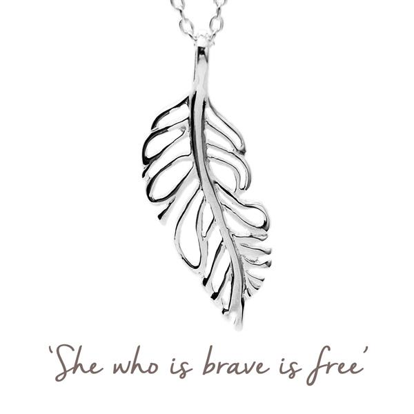 Plume Feather Necklace
