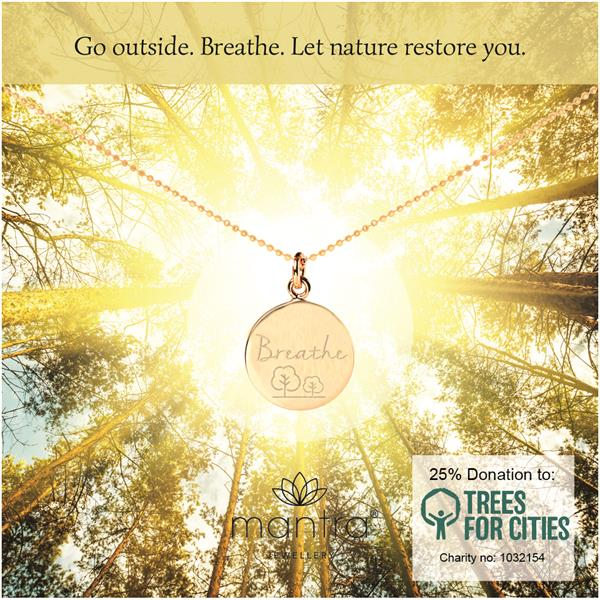 Breathe Charity Necklace for Trees for Cities
