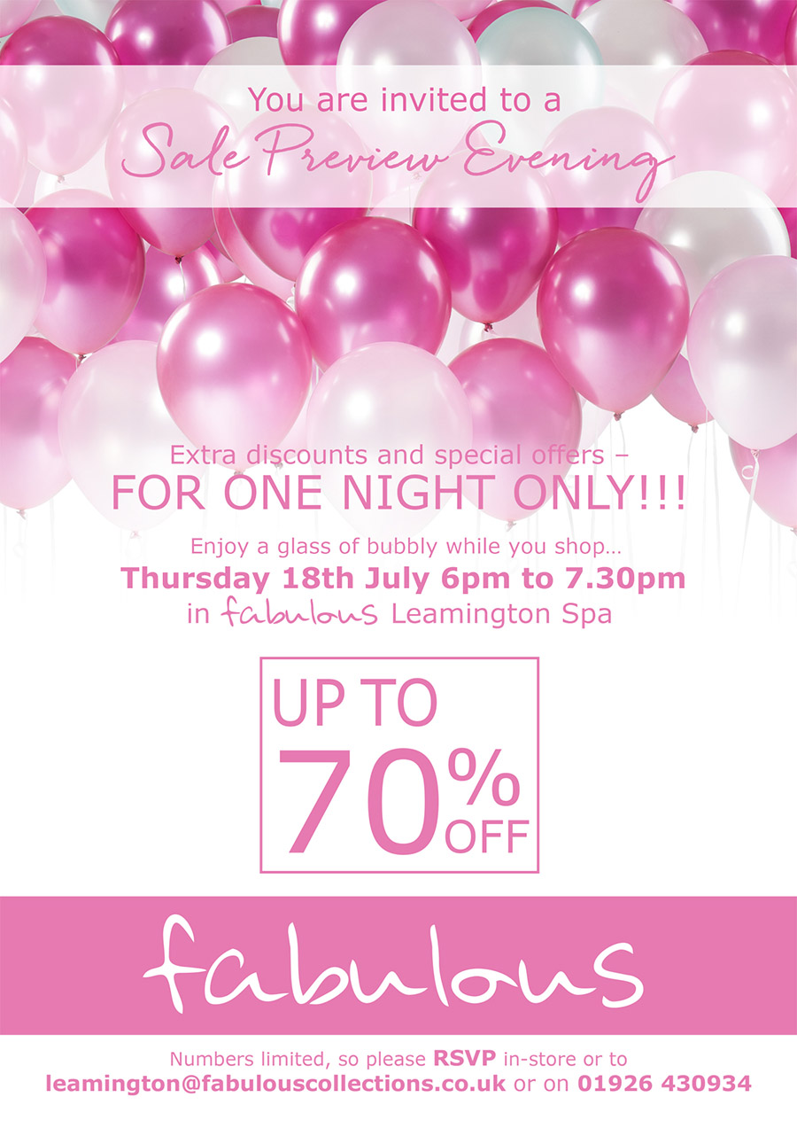 fabulous sale preview event