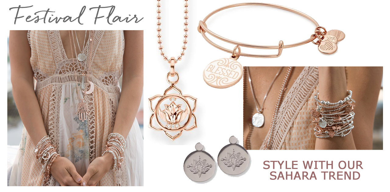 spring summer designer jewellery jewelry silver rose gold mixed metals chlobo alex and ani trends 2018 sahara festival style