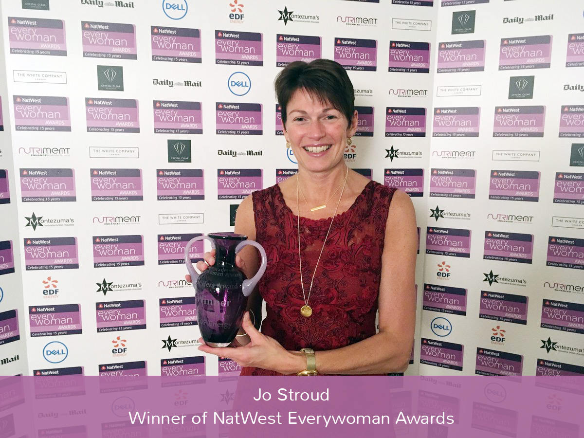 Jo Stroud wins the NatWest Everywoman Awards