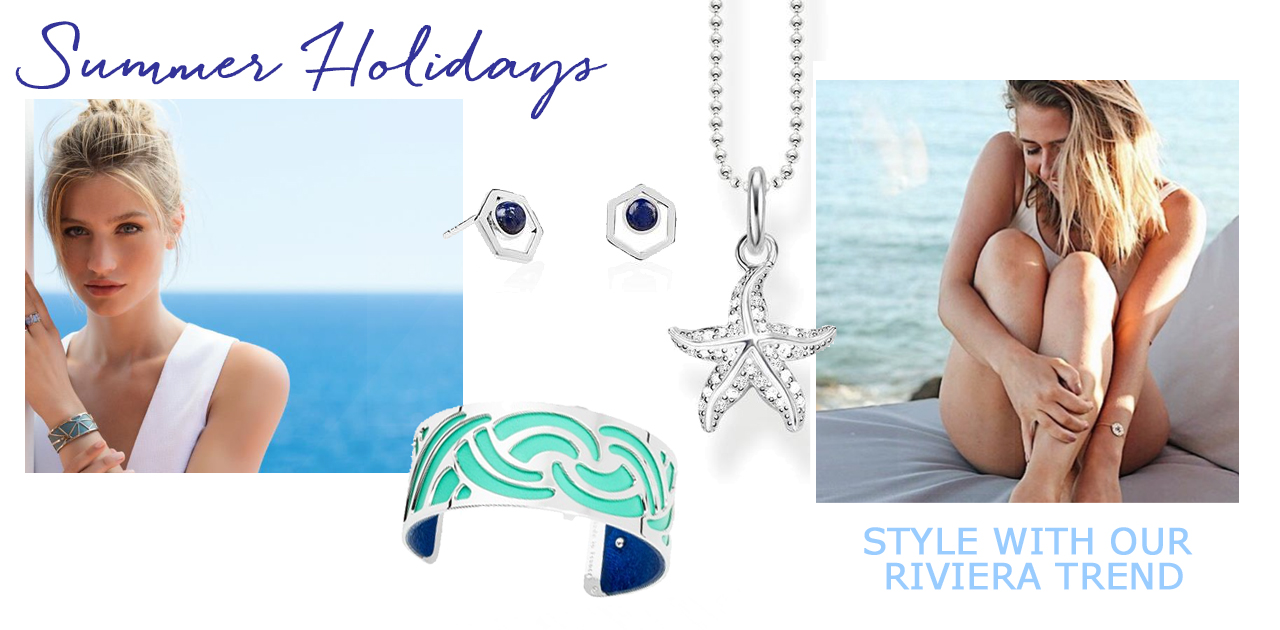 spring summer designer jewellery blue silver les georgettes riviera thomas sabo daisy london holiday trends 2018
