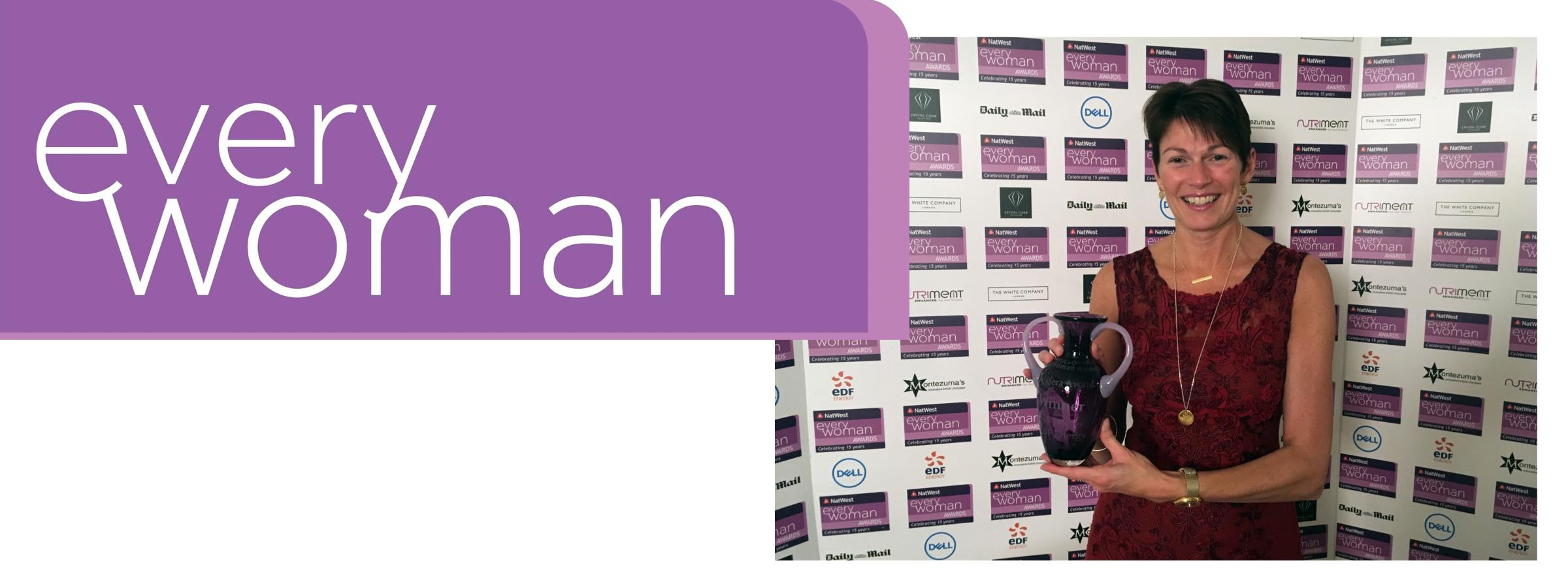 Jo Stroud wins the 'NatWest Everywoman' Award