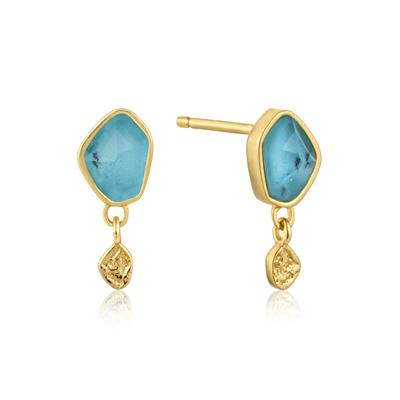 Buy Ania Haie Gold Turqouise Stud Earrings