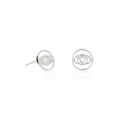 Buy Daisy Silver Brow Chakra Stud Earrings