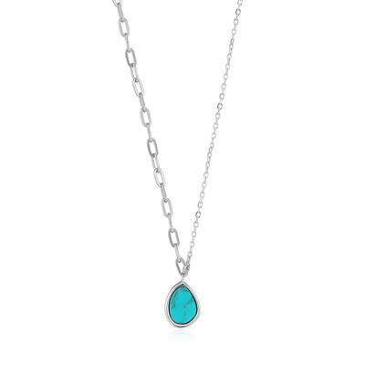 Buy Ania Haie Turning Tides Turquoise & Silver Mixed Link Necklace
