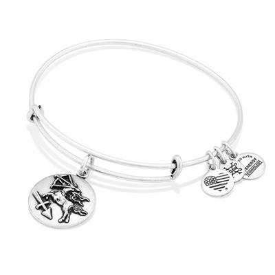 Buy Alex and Ani Sagittarius Disc Bangle in Rafaelian Silver Finish