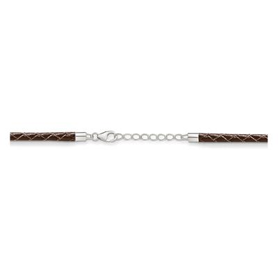 Buy Thomas Sabo Extendable Brown Leather Necklace