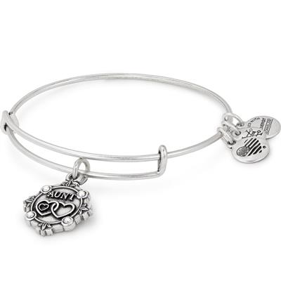 Buy Alex and Ani Because I Love You Aunt III Bangle in Rafaelian Silver