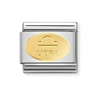 Buy Nomination Gold Libra Oval Zodiac Charm