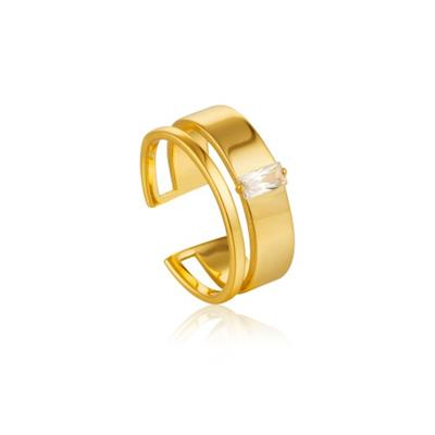 Buy Ania Haie Gold Wide Open Ring