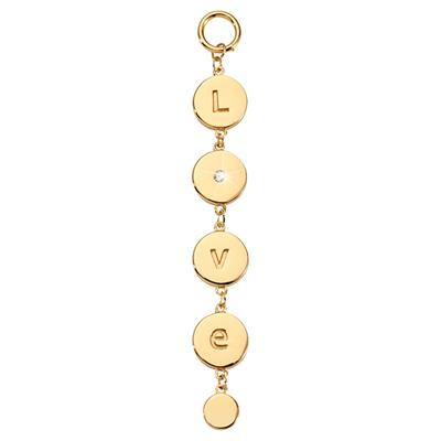 Buy Nikki Lissoni Gold Love Disc Amulet