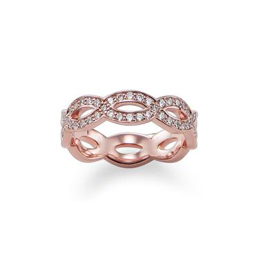 Buy Thomas Sabo GLAM & SOUL Knot Rose Gold Ring Size 54