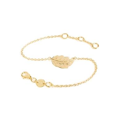Buy Daisy Mulberry Leaf Gold Bracelet