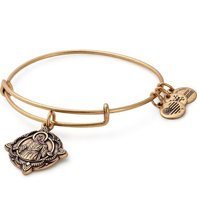 Buy Alex and Ani Jesus bangle in Rafaelian Gold