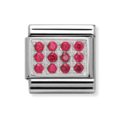 Buy Nomination Red CZ Pave