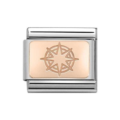Buy Nomination Classic Rose Gold Symbols Windrose Compass Charm