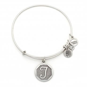 Buy Alex and Ani T Initial Bangle in Rafaelian Silver