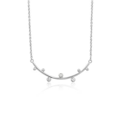 Buy Ania Haie Sterling Silver CZ Stud Bar Necklace