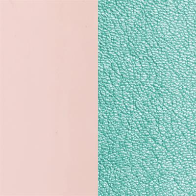 Buy Les Georgettes Pink/ Metallic Aqua Wide Leather