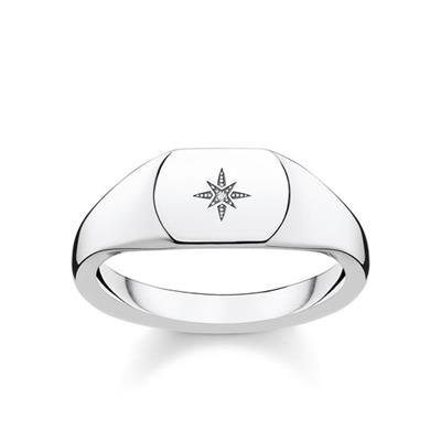 Buy Thomas Sabo Vintage Star Diamond Signet Ring 52