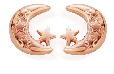 Buy ChloBo Moon & Stars Rose Gold Studs
