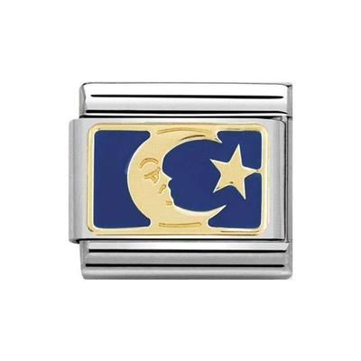 Buy Nomination Gold Moon and Star Charm
