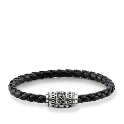 Buy Thomas Sabo Rebel at Heart Black Leather Infinity Bracelet