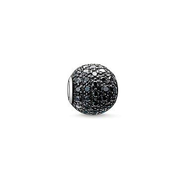 Buy Thomas Sabo Black Pave Karma Bead