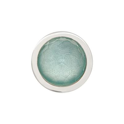 Buy Nikki Lissoni Faceted Light Blue Silver Ring Coin