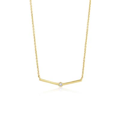 Buy Ania Haie Touch of Sparkle Gold Bar Necklace