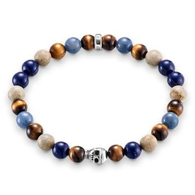 Buy Thomas Sabo Blue Mix Skull Bracelet Sterling Silver Small