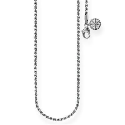 Buy Thomas Sabo Oxidised Twist Karma Chain Sterling Silver 45cm