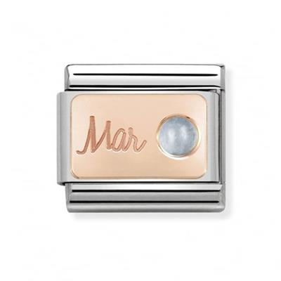 Buy Nomination Rose Gold March Aquamarine Charm