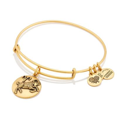 Buy Alex and Ani Aries Disc Bangle in Rafaelian Gold Finish