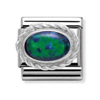 Buy Nomination Silvershine Green Oval Opal