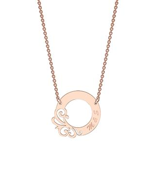 Buy me.mi Designer Circle Necklace in Rose Gold
