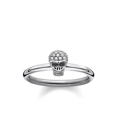 Buy Thomas Sabo Diamond Skull Ring 52