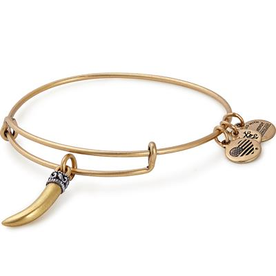 Buy Alex and Ani Horn Bangle in Rafaelian Gold