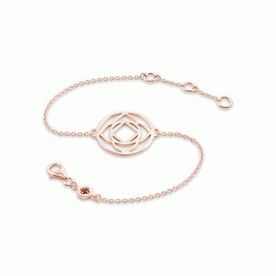 Buy Daisy Base Chakra Rose Gold Chain Bracelet