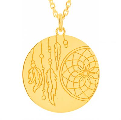 Buy MyMantra Dreamcatcher Yellow Gold Personalised Necklace 80cm