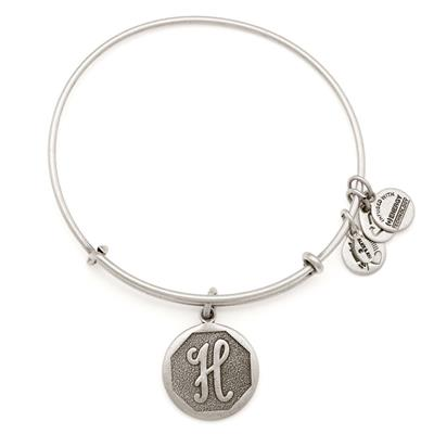 Buy Alex and Ani H Initial Bangle in Rafaelian Silver