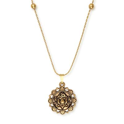 Buy Alex and Ani Lotus Peace Petals Expandable Necklace in Rafaelian Gold
